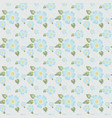 seamless floral pattern subdued tone of colour vector image