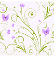 seamless florals purple vector image