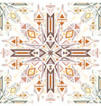 seamless tribal native texture flat colorful vector image vector image