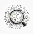 search for creative ideas vector image