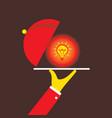 serving idea concept design vector image