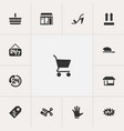 set of 13 editable trade icons includes symbols vector image