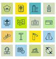 set of 16 transportation icons includes internet vector image vector image