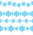 set of seamless Christmas borders vector image vector image