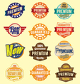 set retro badges and labels vector image vector image