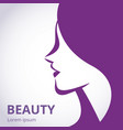 silhouette a girl in profile template logo vector image vector image