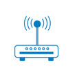 silhouette router wifi connection network vector image