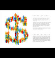 simple crowdsourcing dollar concept made from vector image vector image