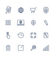 simple icons for app programs and sites set vector image vector image