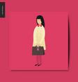 simple things - school girl vector image vector image