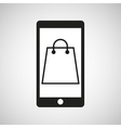 smartphone e-commerce bag gift graphic vector image vector image