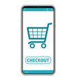 smartphone with e-commerce interface vector image