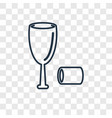 sommelier concept linear icon isolated on vector image vector image