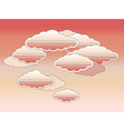 stylized pink clouds vector image