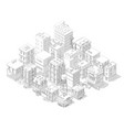 town street intersection road buildings isometric vector image vector image