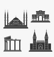 turkey architecture silhouette vector image vector image