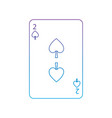 two of spades french playing cards related icon vector image vector image
