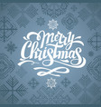 typography hipster christmas card design vector image