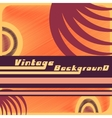 vintage background template vector image