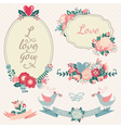 Vintage floral set Hand drawn wedding collection vector image vector image