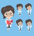 woman doctor in action and mood in uniform vector image