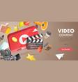 3d conceptual video content vector image