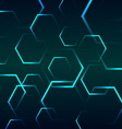 Abstract background with blue hexagon vector image vector image