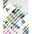 abstract geometrical texture with infographic vector image vector image