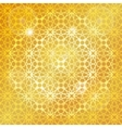 Arabic islamic patterngold backgroundGeometrical vector image vector image