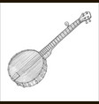 banjo in hand-drawn style vector image