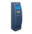 bank atm icon realistic style vector image vector image