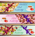 banner set with sweets vector image vector image