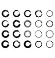 black ink round stroke on white background vector image vector image