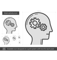 Brain activity line icon vector image vector image