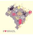 Brazilian thematic print 4 vector image