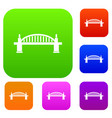 bridge set color collection vector image vector image