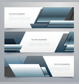 business banners set of three professional headers vector image vector image