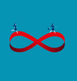 businesswomen running on infinity symbol concept vector image vector image