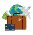 buy online flight tickets vector image vector image