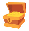 chest of gold icon cartoon style vector image