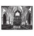 choir of st saviours southwark vintage vector image vector image