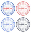 colored postal stamps liverpool uk vector image
