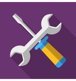 Colorful screwdriver and wrench icon in modern vector image vector image
