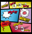 comic page mockup with color background bomb vector image