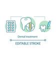 dental treatment concept icon vector image
