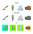 design story and items symbol set of vector image
