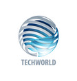 digital sphere global link technology world logo vector image vector image