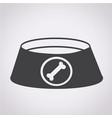 dog bowl icon vector image