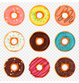 donut with sprinkles and chocolate isolated vector image vector image