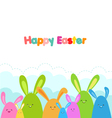 Easter Bunnies Card vector image vector image